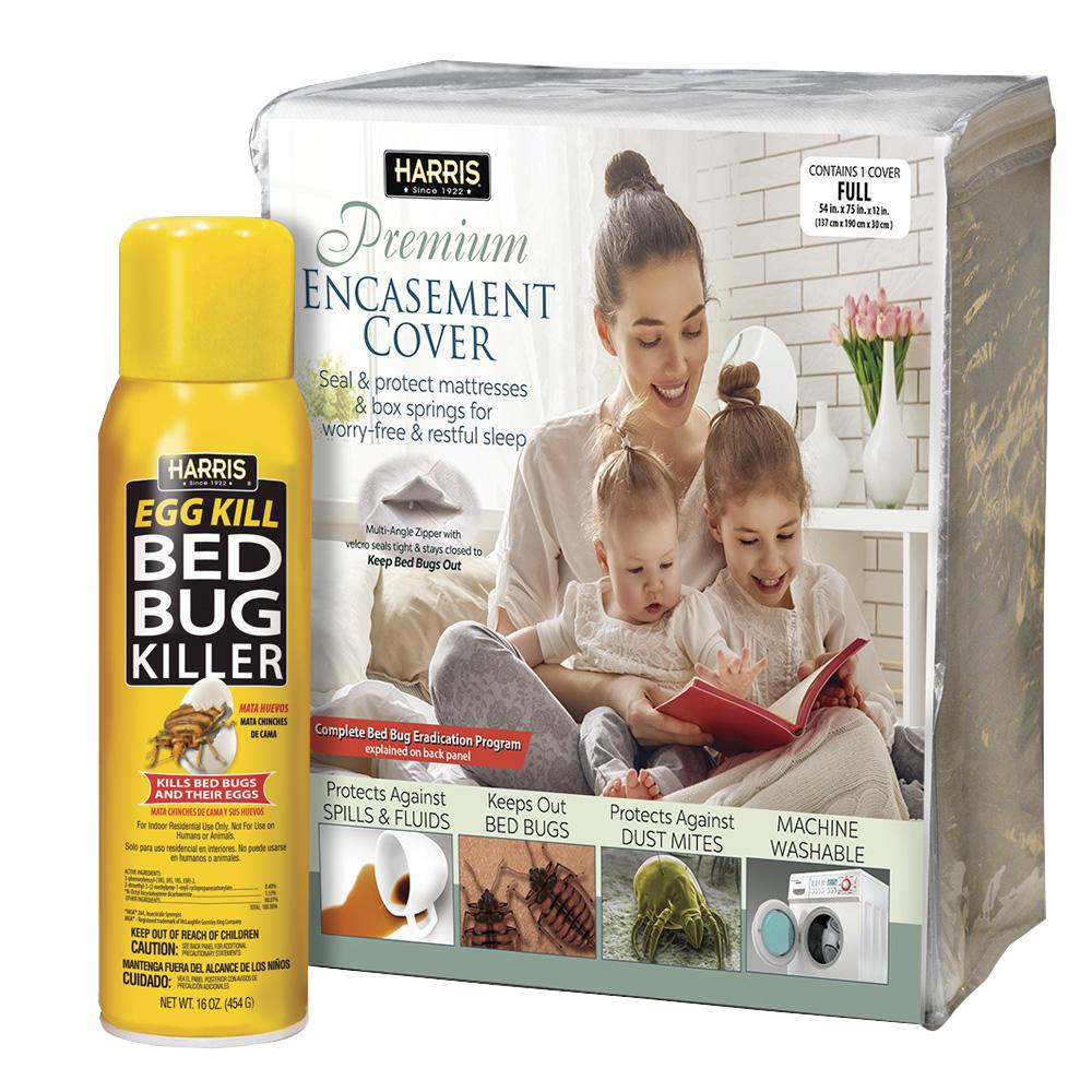 Harris Full Bed Bug Mattress Cover and Bed Bug Spray Valu...