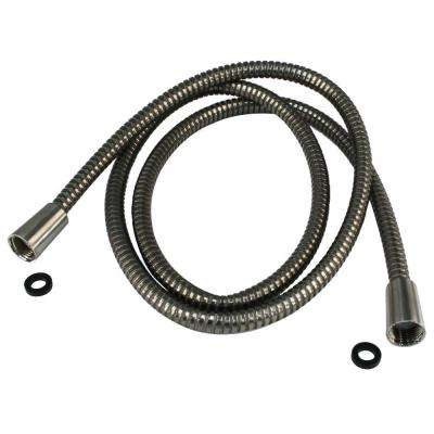 72 in. Plastic Hand Shower Hose and Washers, Satin Nickel