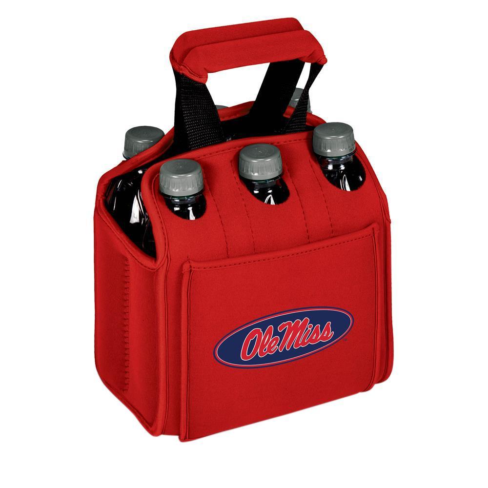 University of Mississippi Rebels 6-Bottles Red Beverage Carrier
