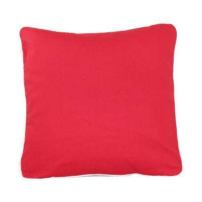 20 in. x 20 in. Red  Standard Pillow with Green Eco Friendly Insert