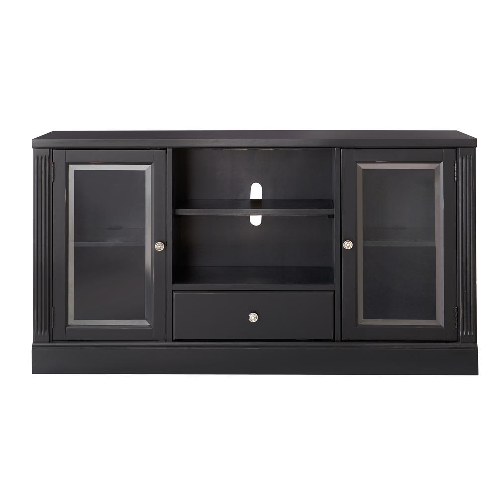 Edinburgh Black Glass Door Modular TV Stand