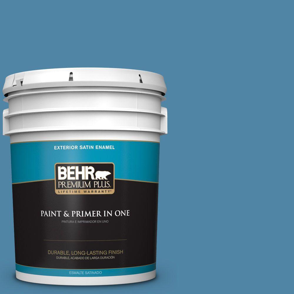 BEHR Premium Plus 5-gal. #M500-4 Hemisphere Satin Enamel Exterior Paint