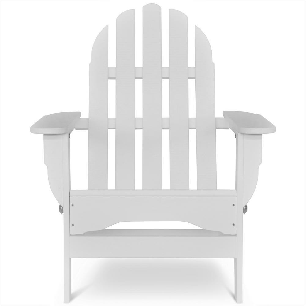 durogreen icon white plastic folding adirondack chair tac8020wh the home depot. Black Bedroom Furniture Sets. Home Design Ideas