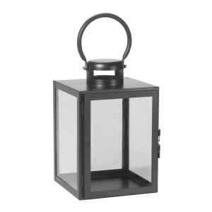 11 in. Huntington Black Metal and Glass Candle Hanging or Table Top Lantern