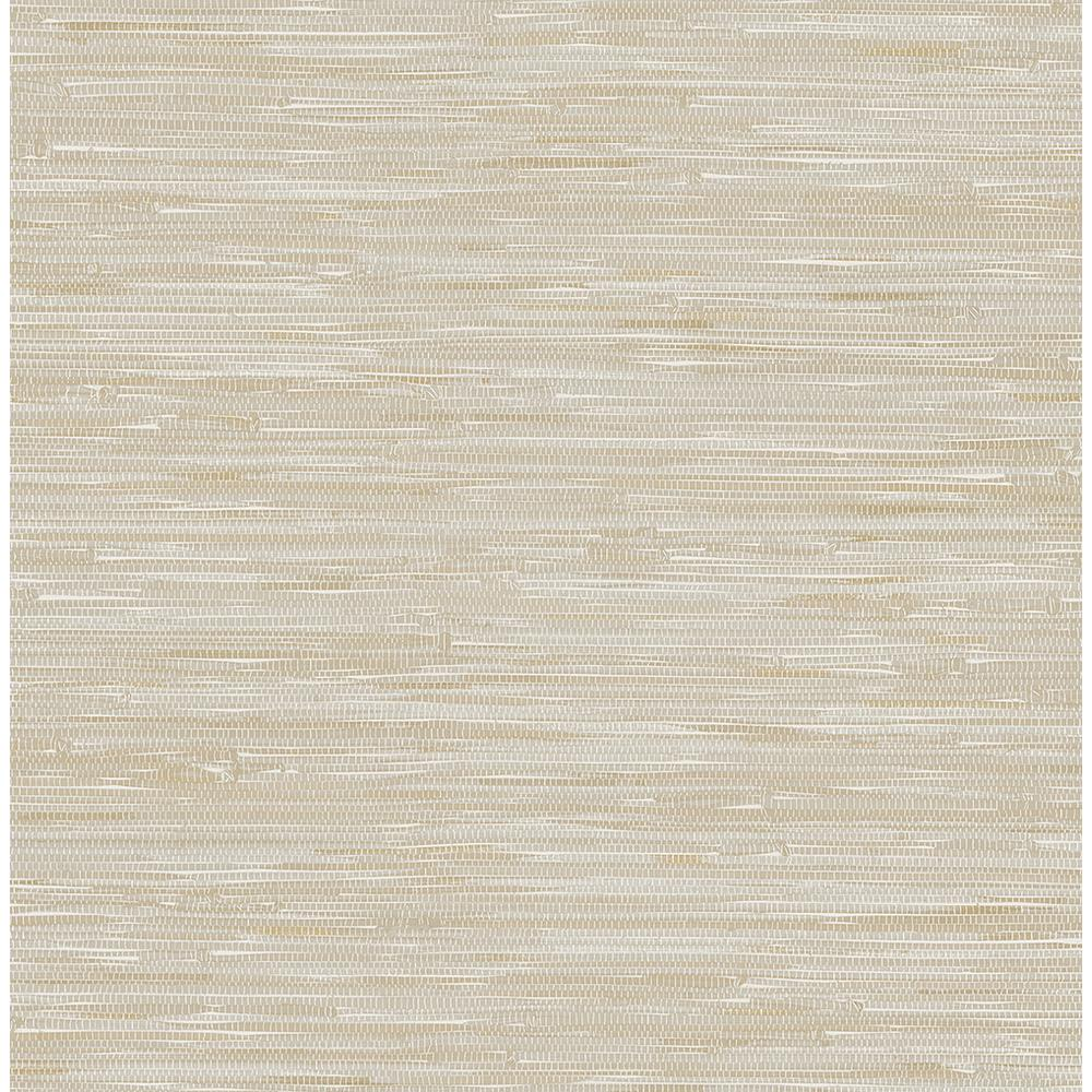 York Wallcoverings Taupe Grasscloth Strippable Non Woven: A-Street Beige Grey Faux Grasscloth Wallpaper-2657-22269