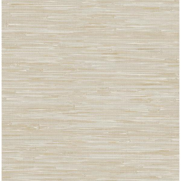 A-Street Beige Grey Faux Grasscloth Wallpaper 2657-22269