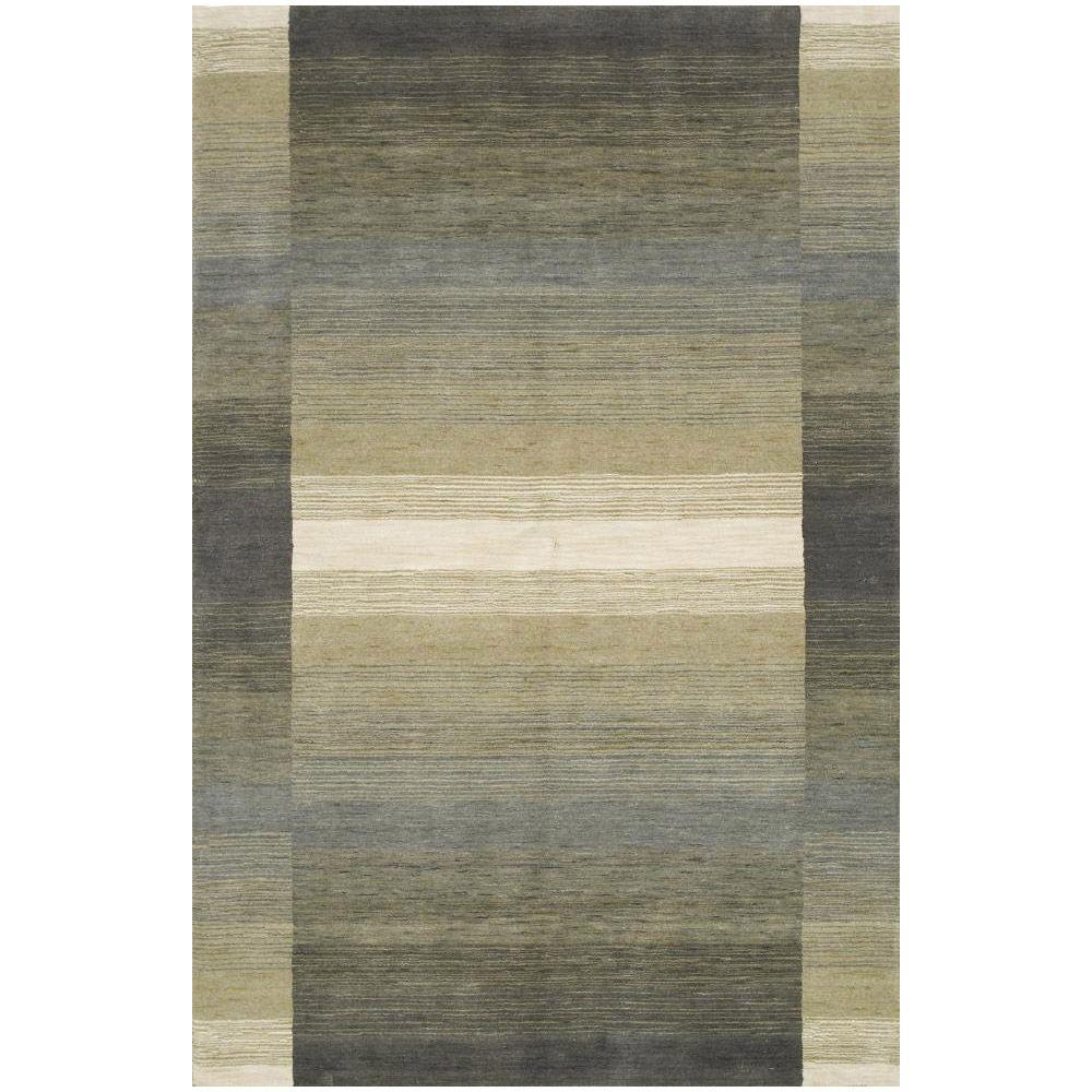 BASHIAN Contempo Collection Steel Lines Multi 5 ft. x 7 ft. 6 in. Area Rug