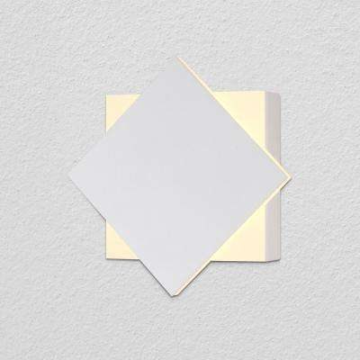 Eclipse 4.75 in. White Integrated LED Sconce