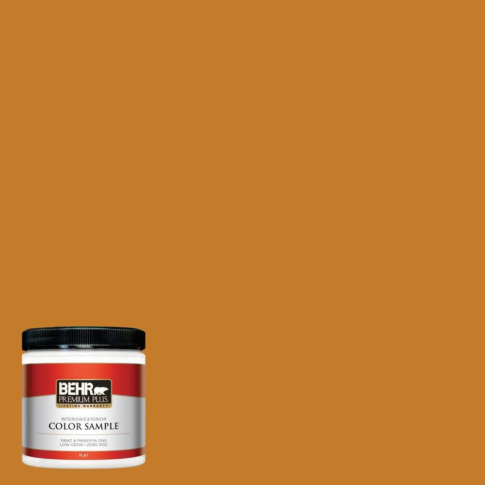 BEHR Premium Plus 8 oz. #S-H-290 Exotic Honey Interior/Exterior Paint Sample