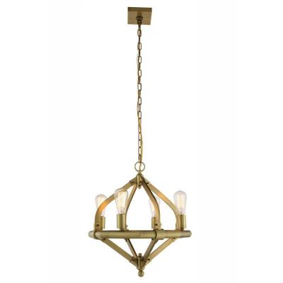 Illumina 4-Light Burnished Brass Pendant Lamp