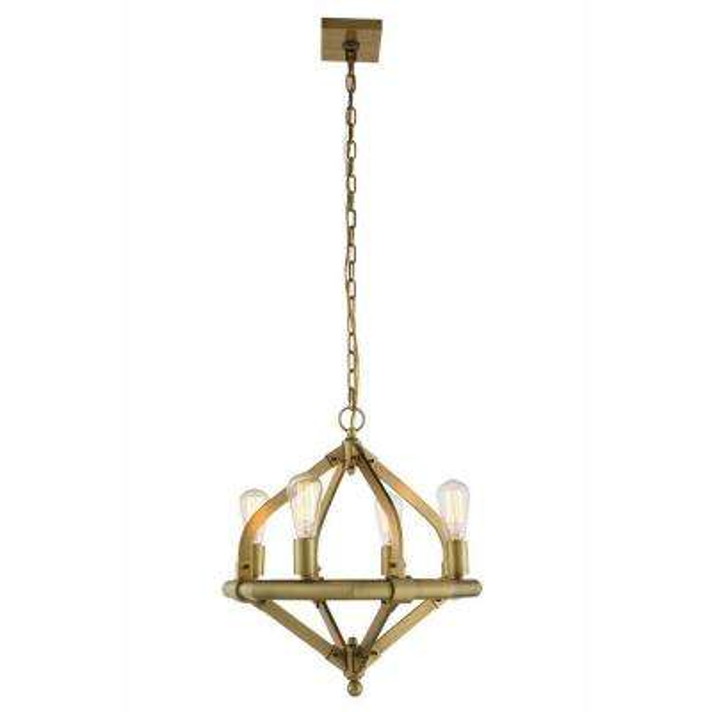 Illumina 4-Light Burnished Brass Pendant Lamp