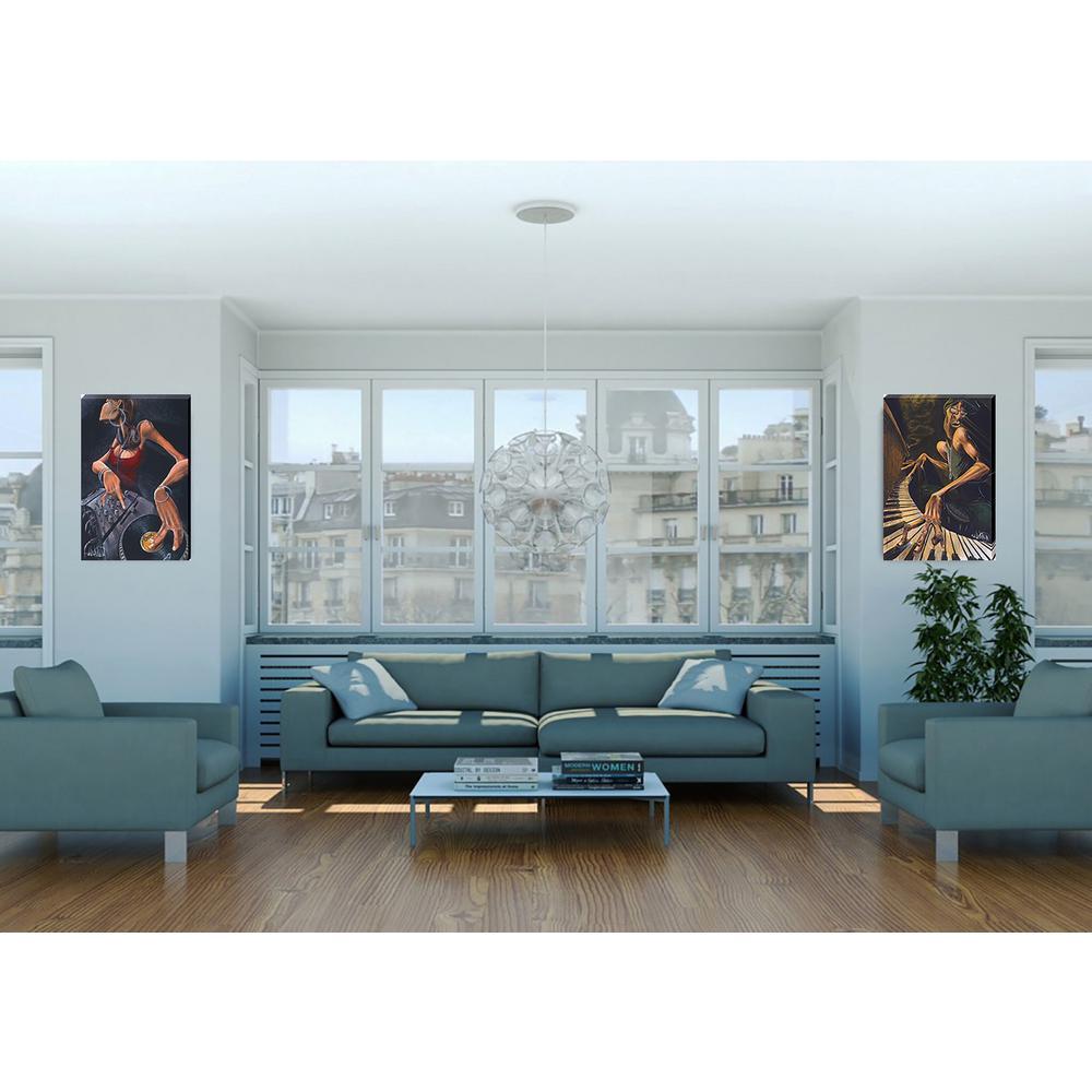 Lounge Smoke Printed Canvas Wall Art Nc1152 The Home Depot