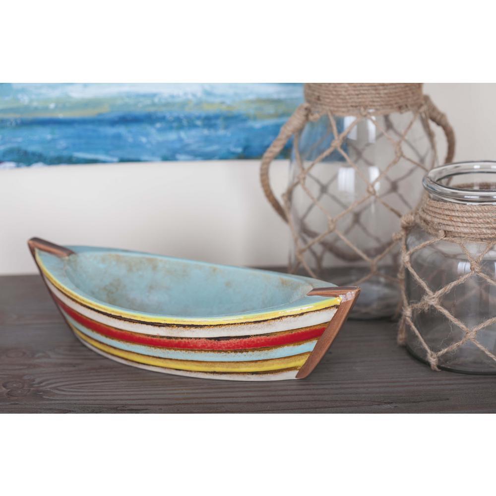 Nautical Ceramic Boat Tray Set (Set of 2)
