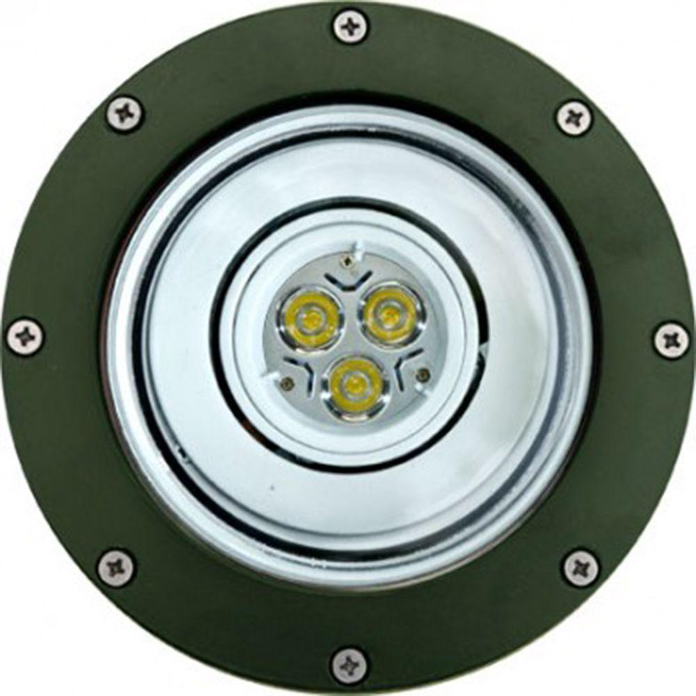 Brantley 3-Light Green Outdoor LED In-Ground Well Light