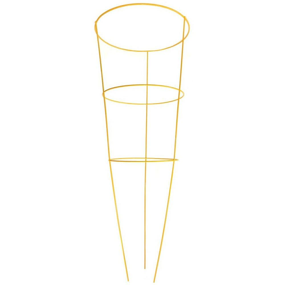 G&B 42 in. Heavy-Duty Yellow Tomato Cage-901594YE - The Home Depot