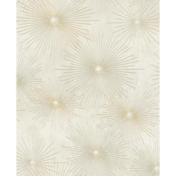 Seabrook Designs Catwalk Starburst Metallic Gold And Cream Paper Strippable Roll Covers 56 05 Sq Ft Ne51005 The Home Depot