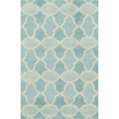 Weston Lifestyle Collection Aqua 3 ft. 6 in. x 5 ft. 6 in. Area Rug