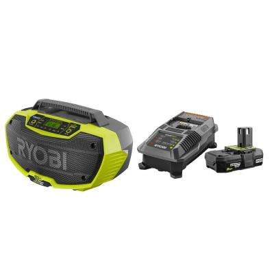 18-Volt ONE+ Hybrid Stereo with Lithium-Ion 2.0 Ah Battery, Dual Chemistry IntelliPort Charger