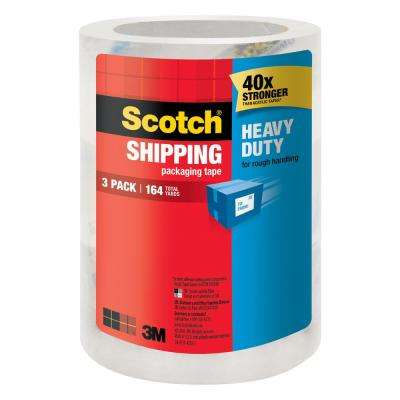 Scotch 1.88 in. x 54.6 yds. Heavy Duty Shipping Packaging Tape ((3-Pack)(Case of 8))