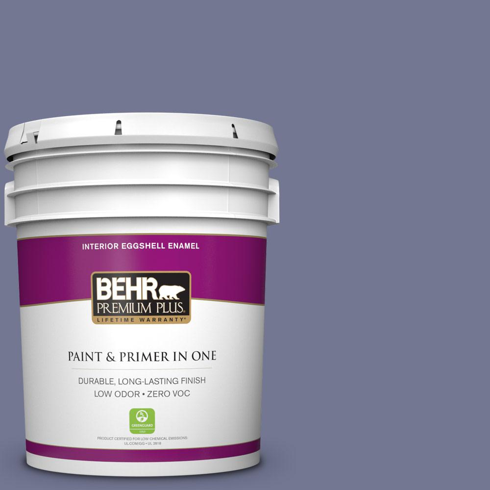 BEHR Premium Plus 5 gal. #S560-5 Royal Fortune Eggshell Enamel Zero VOC Interior Paint and Primer in One