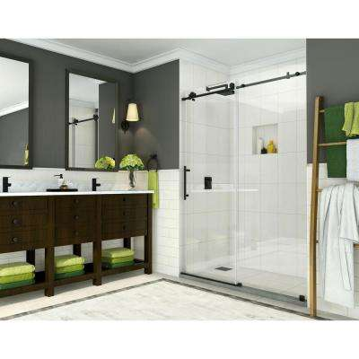 Coraline 56 in. to 60 in. x 76 in. Frameless Sliding Shower Door in Oil Rubbed Bronze