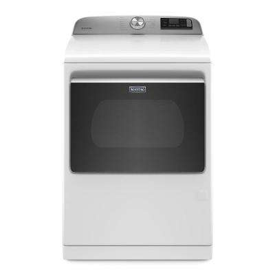 7.4 cu. ft. 120-Volt Smart Capable White Gas Vented Dryer with Steam and Hamper Door, ENERGY STAR