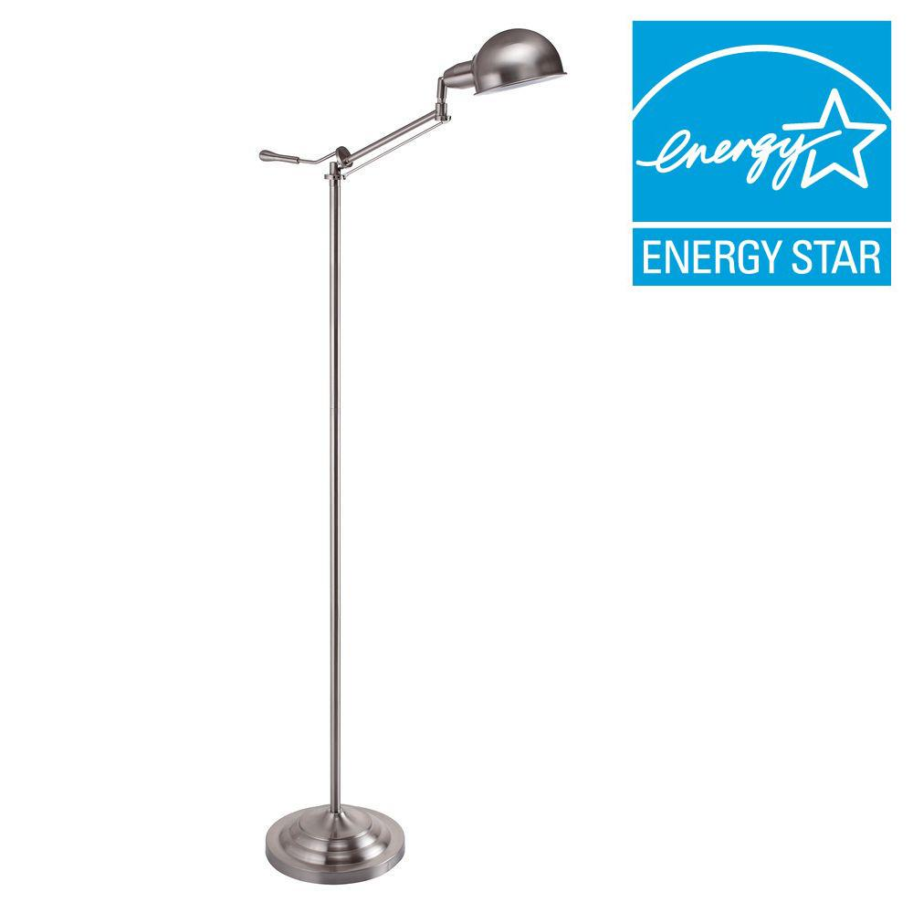 64 in. H Modern Silver Task Floor Lamp