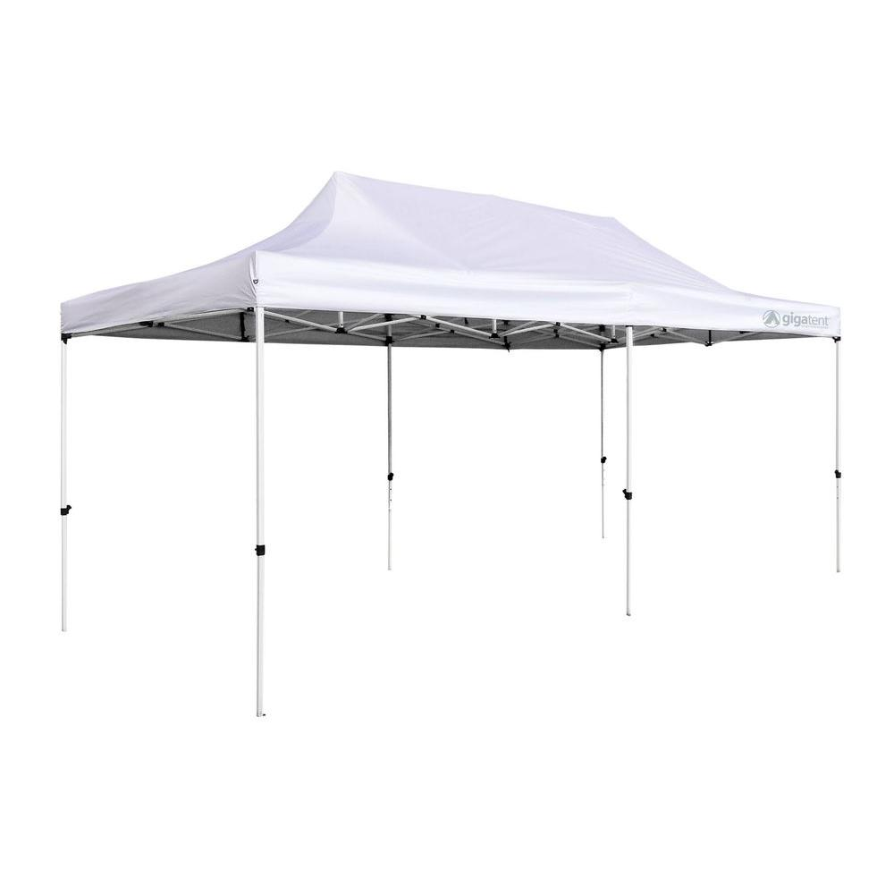 GigaTent Party Tent 10 ft. x 20 ft. White Canopy-GT004W - The Home Depot  sc 1 st  Home Depot : 20 tent - memphite.com