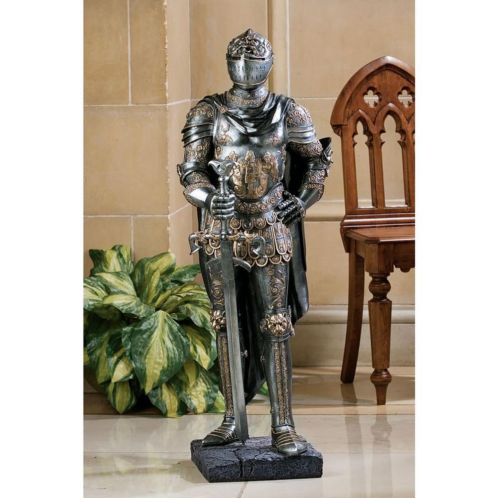 39.5 in. H The King's Guard Sculptural Half Scale Knight Replica