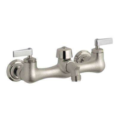 Knoxford 8 in. Widespread 2-Handle Low Arc Utility Faucet in Rough Plate
