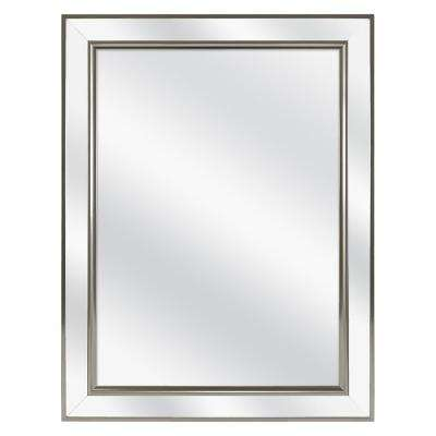 20 in. W x 26 in. H Fog Free Framed Recessed or Surface-Mount Mirror on Mirror Bathroom Medicine Cabinet in Brushed Nick