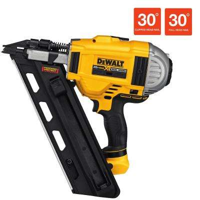 20-Volt Max XR Lithium-Ion Cordless Brushless 2-Speed 33 Degree Framing Nailer (Tool-Only)