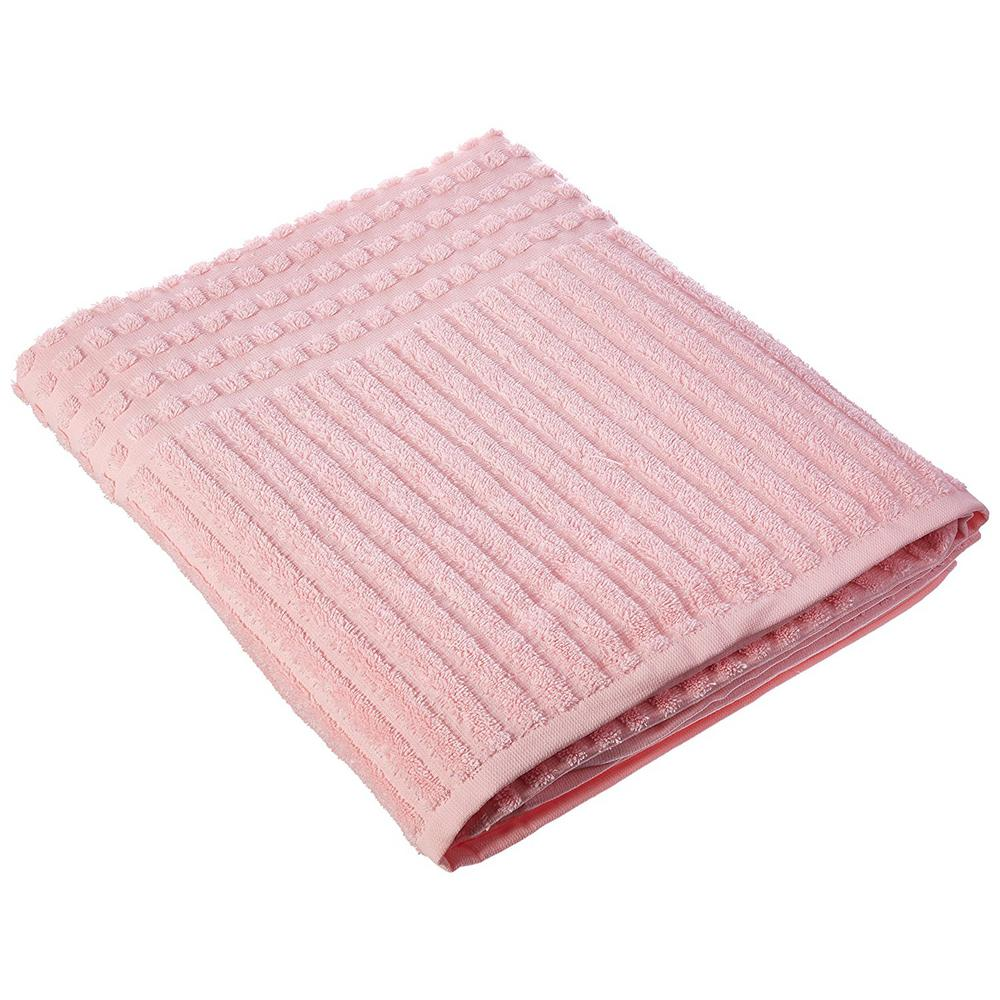 Berrnour Home Piano Collection 27 in. W x 55 in. H 100% Turkish Cotton Luxury Bath Towel in Pink (Set of 4)