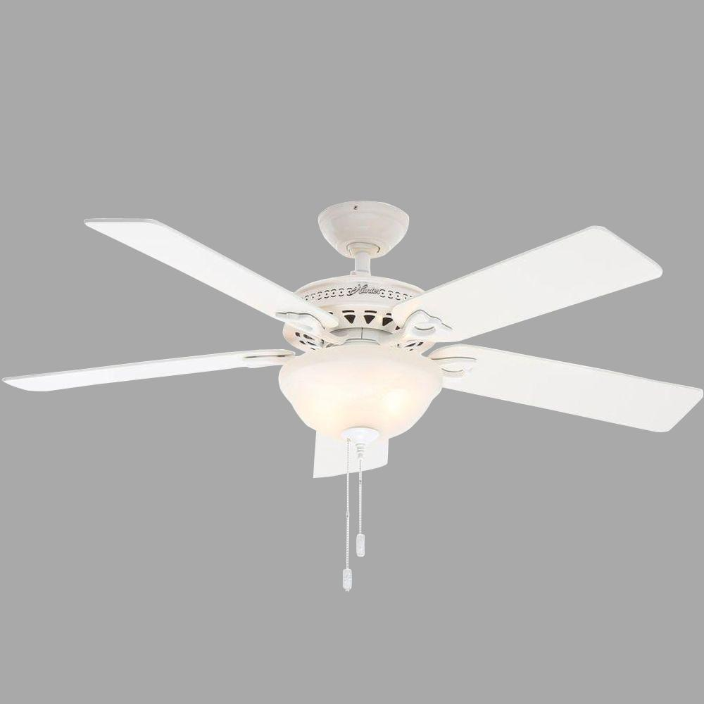 Astoria 52 in. Indoor White Ceiling Fan with Light Kit