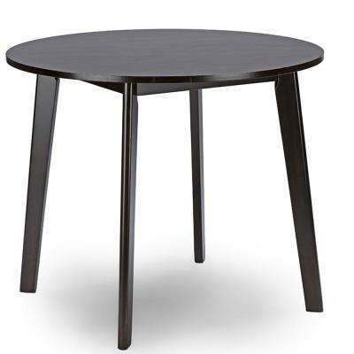 Debbie Dark Brown Finished Wood Dining Table