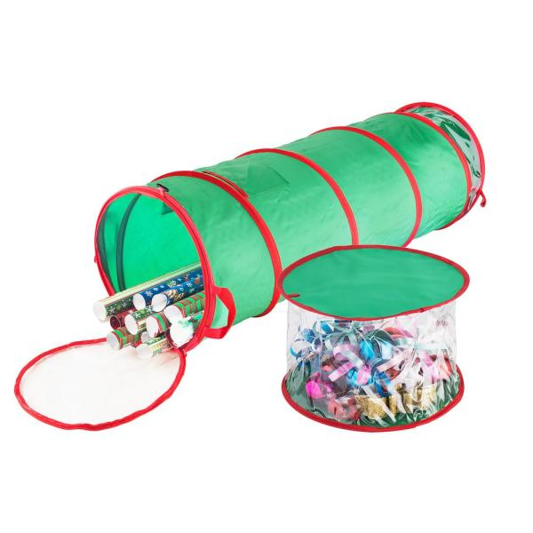 Elf Stor 40 In Tall Pop Up Gift Wrap Foldable Storage Bag Hwd630112 The Home Depot