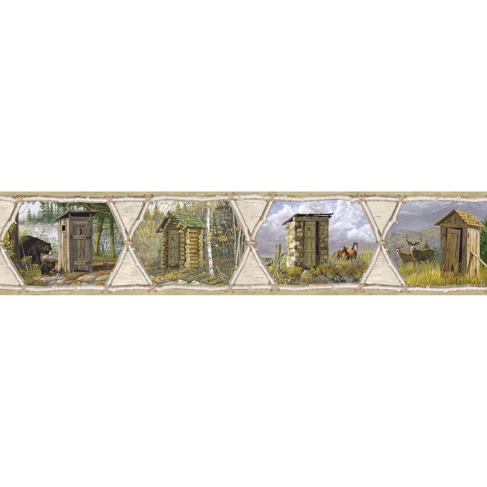 Sabbatia Grey Privy Collection Wallpaper Border Sample