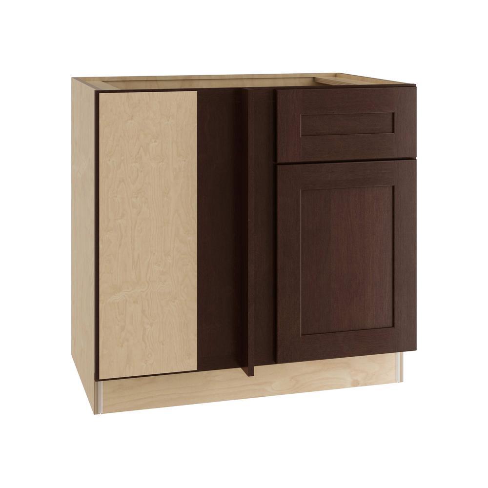 Franklin Assembled 36x34.5x24 in. Single Door & Drawer Hinge Left Base