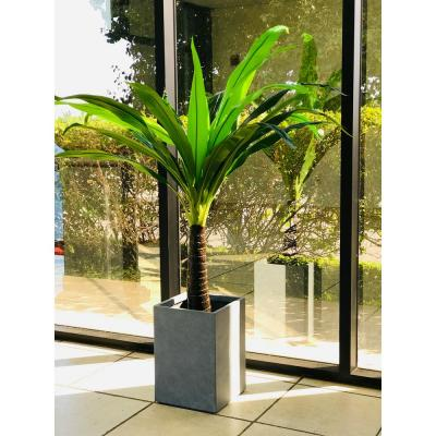 Large 13 in. x 13 in. x 18.5 in. Cement Lightweight Concrete Tall Square Planter