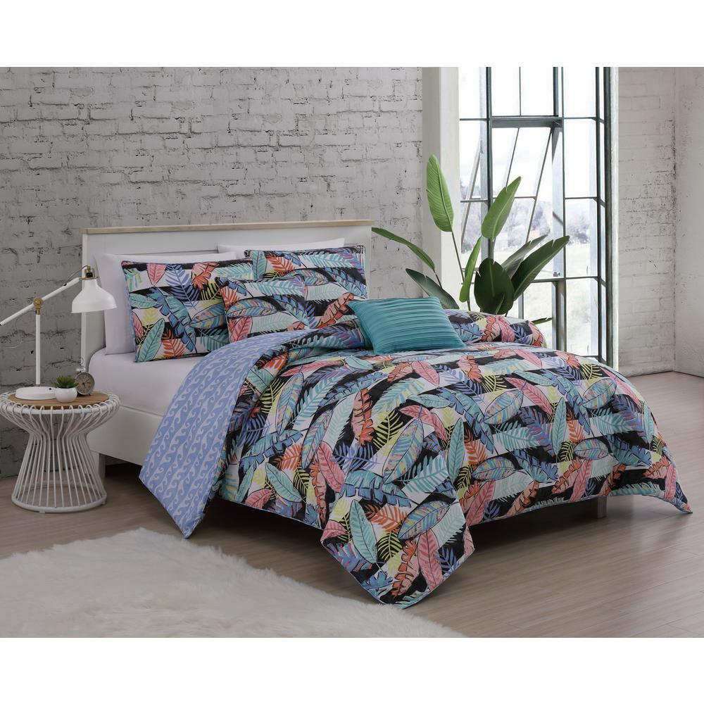 Bellamy 5 Piece Multi Colored Queen Comforter Set Bly5csquenghmu The Home Depot