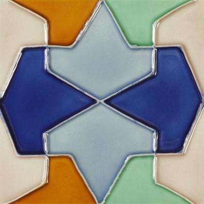 Hand-Painted Conos Deco 6 in. x 6 in. Ceramic Wall Tile (2.5 sq. ft. / Case)