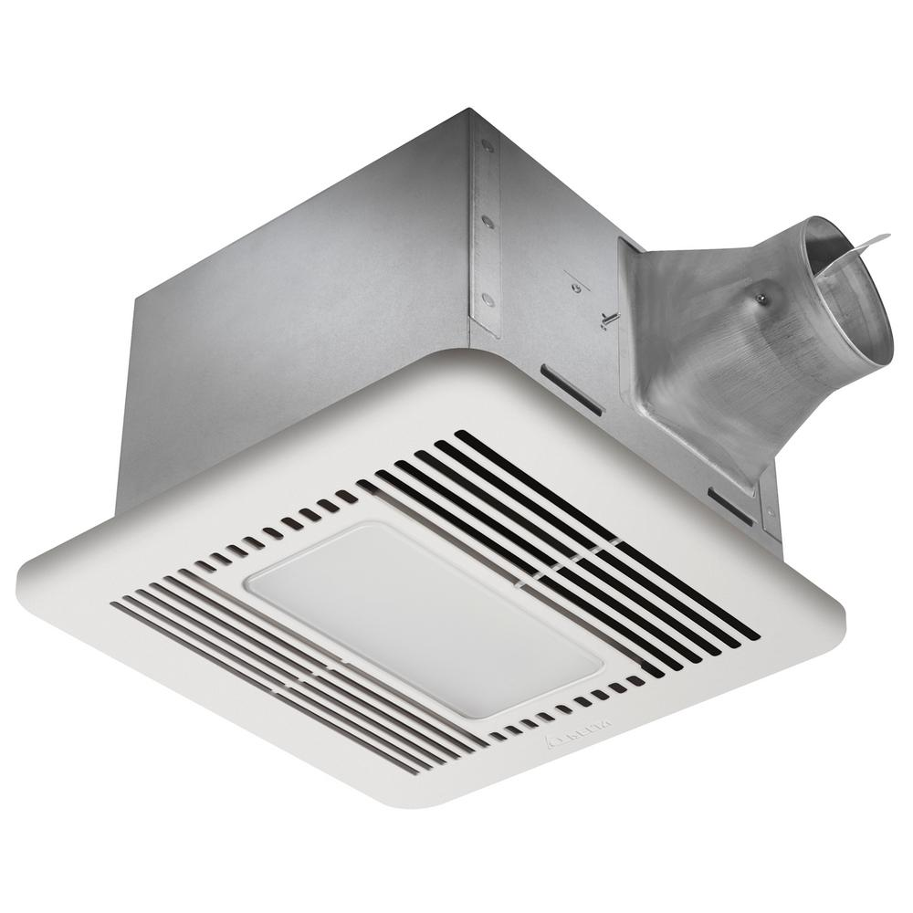 Delta Breez Signature G2 110 CFM Ceiling Adjustable Humidity Sensor Bathroom Exhaust Fan with Night-Light