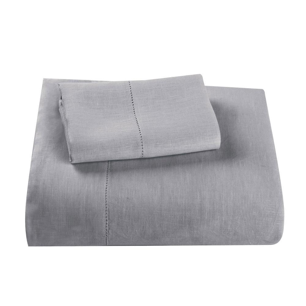 Comfort Wash Solid Linen Flat Sheet