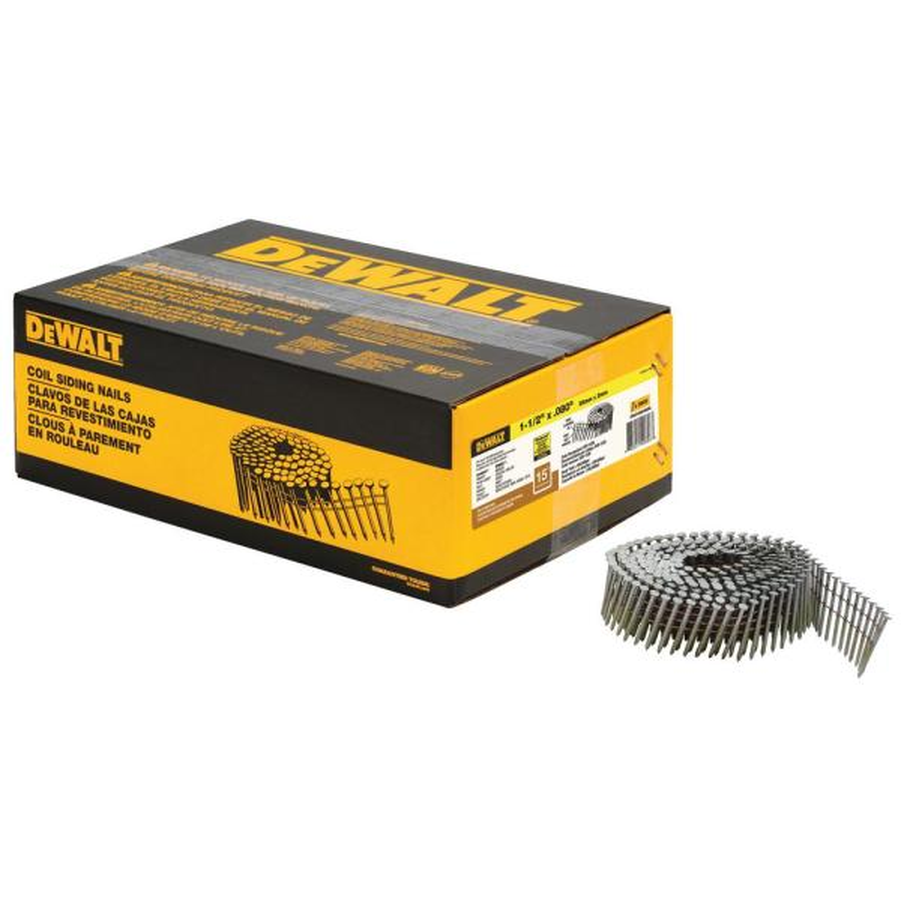 1-1/2 in. x 0.080-Gauge 15° Galvanized Wire Coil Siding Nails (4200 per Box)