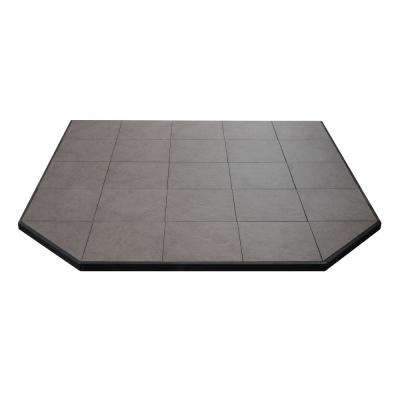 Boxed Hearth Pad Kit 60 in. Corner/Square Safari Sand