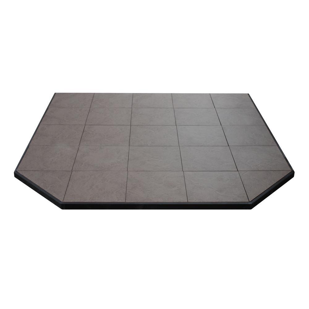 Boxed Hearth Pad Kit 60 in. Corner/Square Safari Sand