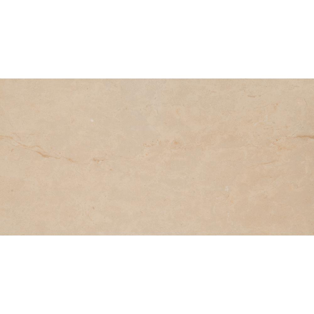 Ivory 16 in. x 32 in. Glazed Porcelain Floor and Wall