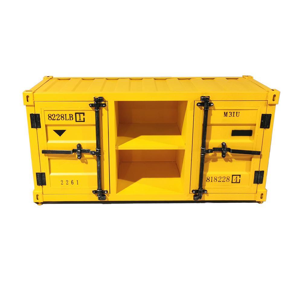 Dusnok Rustic Yellow Cabinet