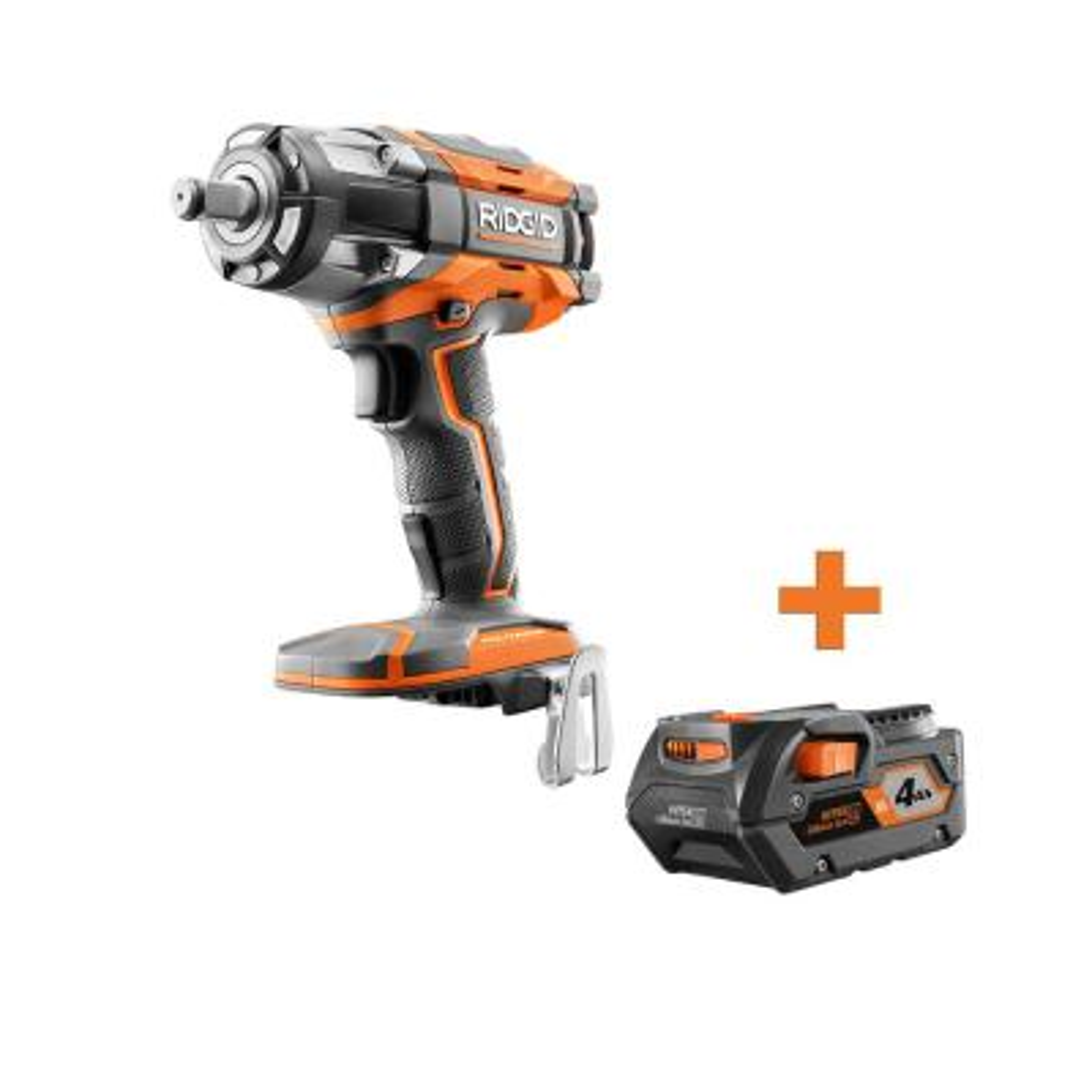 RIDGID 18-Volt OCTANE Cordless Brushless 1/2 in. Impact Wrench