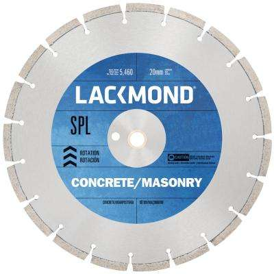 SPL Series Dry Cut Diamond Blade for Cured Concrete 12 in. x 0.125 x 20 mm